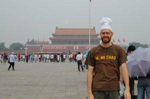 Chef in Tiananmen Square, Beijing, China