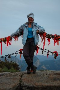 Chef on Mt Hua, China