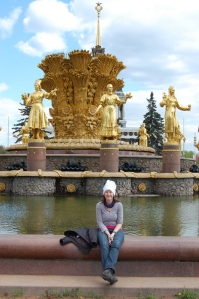 Chefs Hat - Moscow, Gold Lady fountain thingy