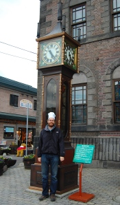 Chef with a steam powered clock - Japan