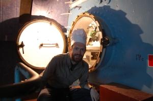 Chef in a Russian submarine, Vladivostok