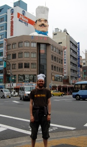 Chef with big chef, Tokyo